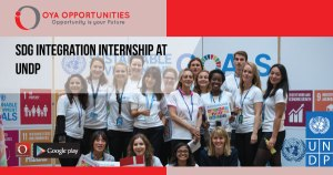 SDG Integration Internship at UNDP