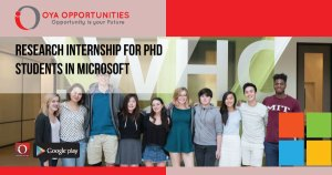 Research Internship for PhD Students in Microsoft