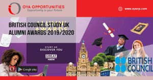 British Council Study UK Alumni Awards 2019/2020