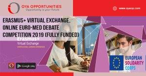 Erasmus+ Virtual Exchange, Online Euro-Med Debate Competition 2019 (Fully Funded)