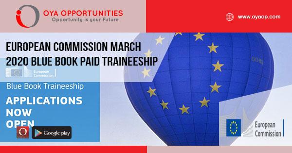 European Commission March 2020 Blue Book Paid Traineeship