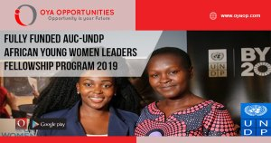 Fully Funded AUC-UNDP African Young Women Leaders Fellowship Program 2019