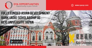 Fully Funded Asian Development Bank (ADB) Scholarship at Keio University, Japan