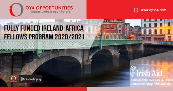 Fully Funded Ireland-Africa Fellows Program 2020/2021