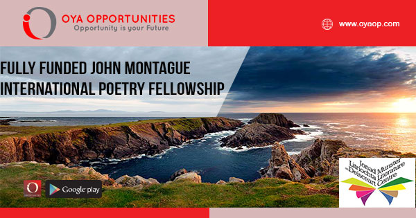 Fully Funded John Montague International Poetry Fellowship