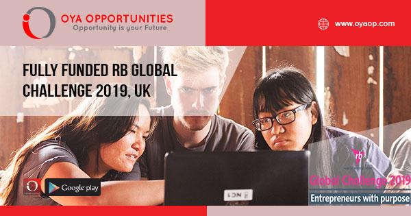 Fully Funded RB Global Challenge 2019, UK