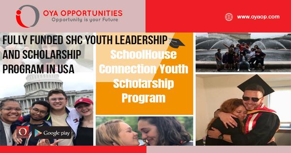 Fully Funded SHC Youth Leadership and Scholarship Program in USA