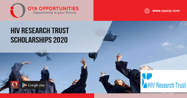 HIV Research Trust Scholarships 2020