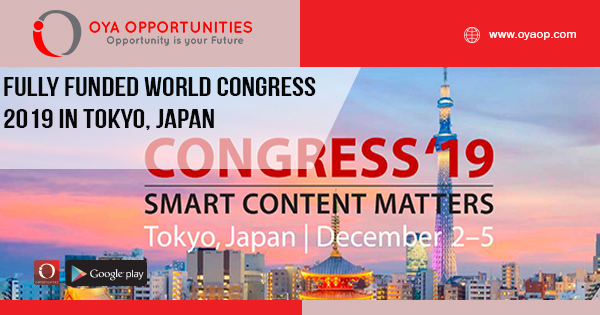 Fully Funded World Congress 2019 in Japan (WCSFP 2019)