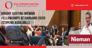 Knight Visiting Nieman Fellowships at Harvard 2020 (Stipend available)