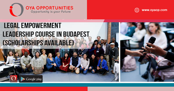 Legal Empowerment Leadership Course in Budapest (Scholarships Available)