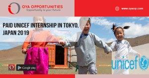 Paid UNICEF Internship in Tokyo, Japan 2019