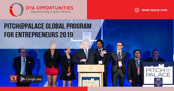 Pitch@Palace Global Program for Entrepreneurs 2019