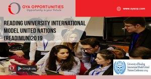 Reading University International Model United Nations (ReadiMUN)2019