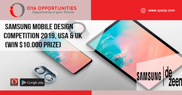 Samsung Mobile Design Competition 2019, USA & UK (Win $10.000 Prize)
