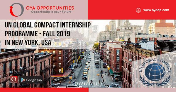 UN Global Compact Internship Programme - Fall 2019 in New York, USA