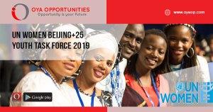 UN Women Beijing+25 Youth Task Force 2019