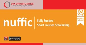 Fully Funded Nuffic Scholarship for Short Courses
