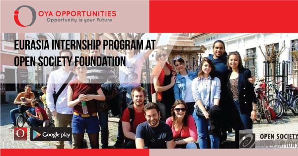 Eurasia Internship Program at Open Society Foundation
