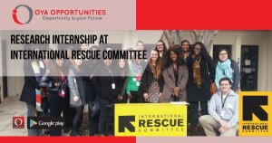 Research Internship at International Rescue Committee