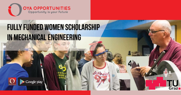 Fully Funded Women Scholarship in Mechanical Engineering