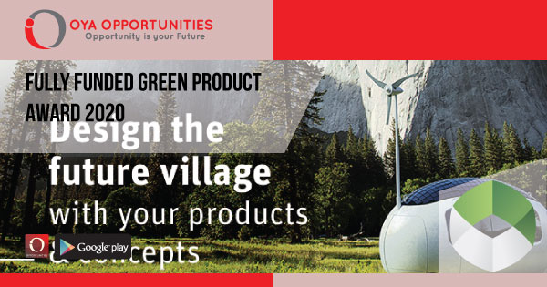 Fully Funded Green Product Award 2020