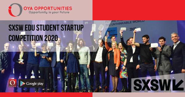 SXSW EDU Student Startup Competition 2020