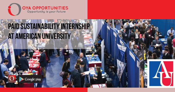 Paid Sustainability Internship at American University