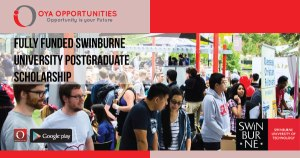 Fully Funded Swinburne University Postgraduate Scholarship