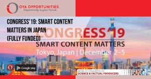 Congress'19: Smart Content Matters in Japan (Fully Funded)