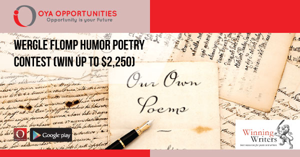 Wergle Flomp Humor Poetry Contest (win up to $2,250)