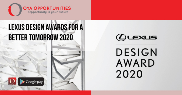 Lexus Design Awards for a Better Tomorrow 2020