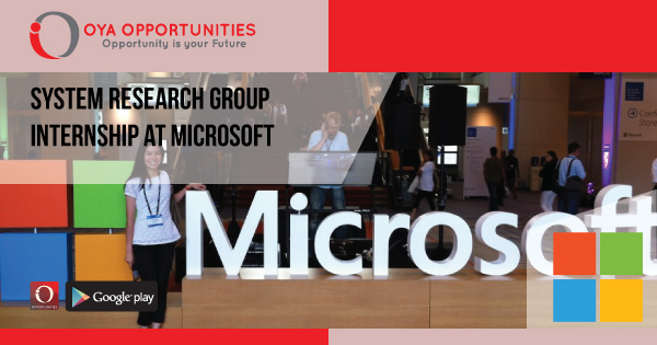 System Research Group Internship at Microsoft