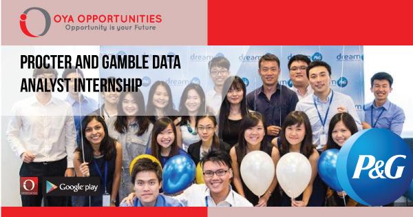 Procter and Gamble Data Analyst Internship