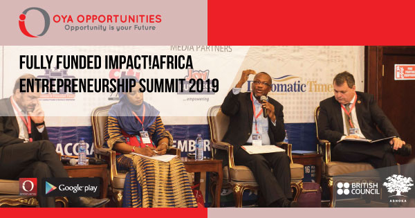 Fully Funded Impact!Africa Entrepreneurship Summit 2019