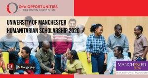 University of Manchester Humanitarian Scholarship 2020