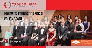 Horowitz Foundation Social Policy Grant