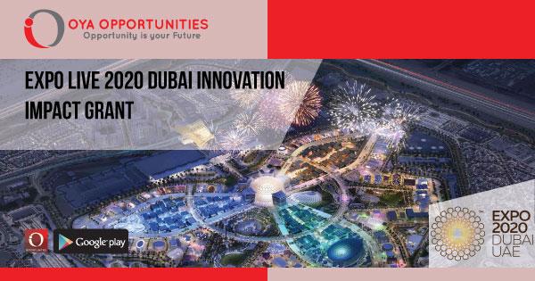 Expo Live 2020 Dubai Innovation Impact Grant