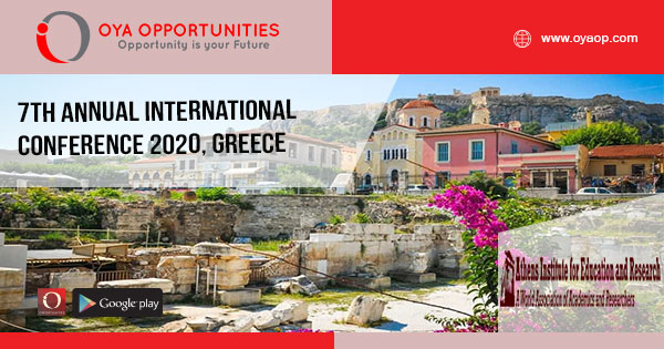 7th Annual International Conference 2020, Greece