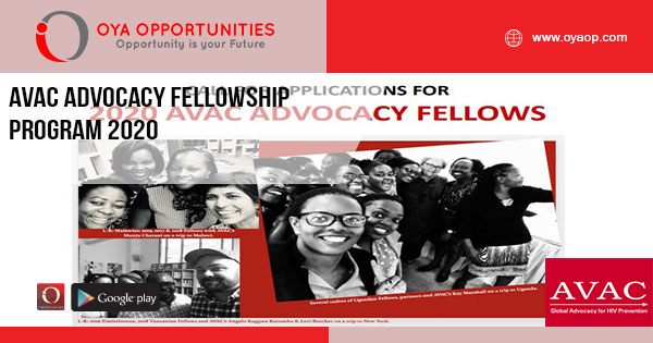 AVAC Advocacy Fellowship Program 2020