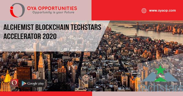 Alchemist Blockchain Techstars Accelerator 2020