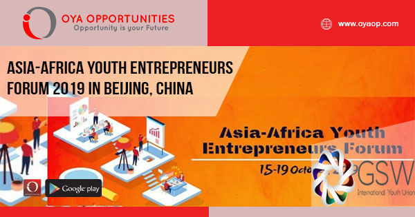 Asia-Africa Youth Entrepreneurs Forum 2019 in Beijing, China