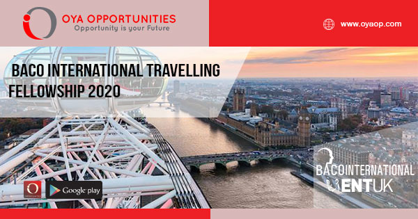 BACO International Travelling Fellowship 2020