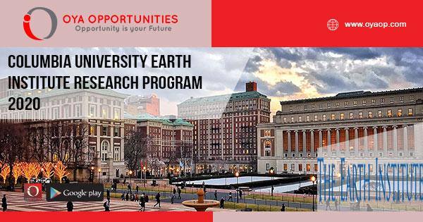 Columbia University Earth Institute Research Program 2020