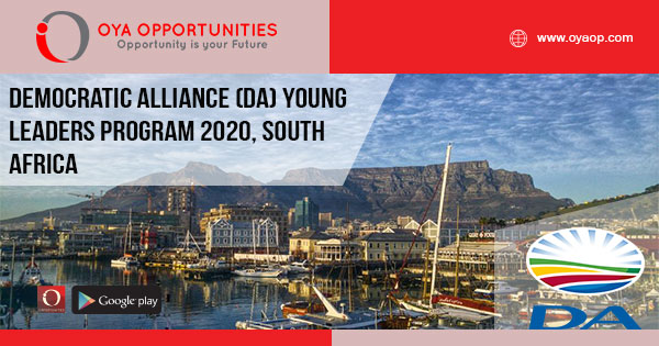 Democratic Alliance (DA) Young Leaders Program 2020, South Africa