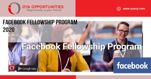 Facebook Fellowship Program 2020