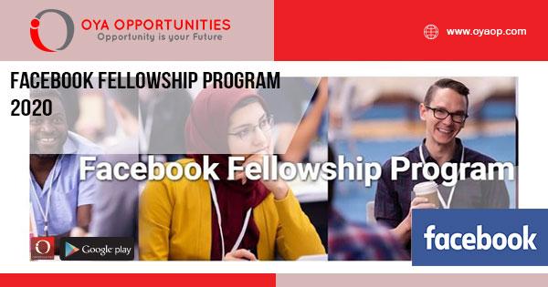 Facebook Fellowship Program 2020