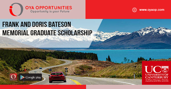 Frank and Doris Bateson Memorial Graduate Scholarship