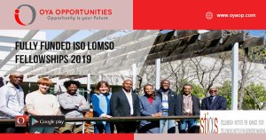 Fully Funded Iso Lomso Fellowships 2019