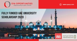 Fully Funded UAE University Scholarship 2020